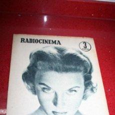 Cine: RADIOCINEMA Nº 377 - 12 OCTUBRE 1957 - PORTADA NICOLE COURCEL - CONTRAPORTADA DANA ANDREWS. Lote 38412148