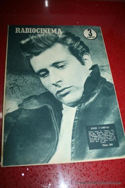 RADIOCINEMA Nº 368 - 10 AGOSTO 1957 - PORTADA JOSÉ CAMPOS - CONTRAPORTADA EVA GABOR (Cine - Revistas - Radiocinema)