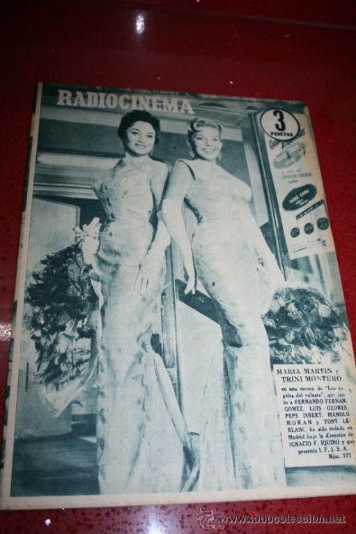 RADIOCINEMA Nº 372 - 7 SEPTIEMBRE 1957 - PORTADA MARIA MARTIN Y TRINI MONTERO. CONTRAP. ROCK HUDSON (Cine - Revistas - Radiocinema)