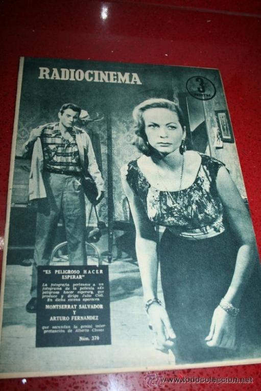 RADIOCINEMA Nº 370 - 24 AGOSTO 1957 - PORTADA ARTURO FERNANDEZ/MONTSERRAT SALVADOR (Cine - Revistas - Radiocinema)