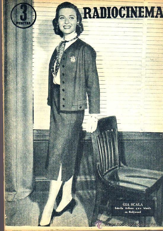 Cine: RADIOCINEMA Nº 327 - 27 OCTUBRE 1956 - PORTADA JORGE RIVIERE - CONTRAPORTADA GIA SCALA - Foto 2 - 38401658