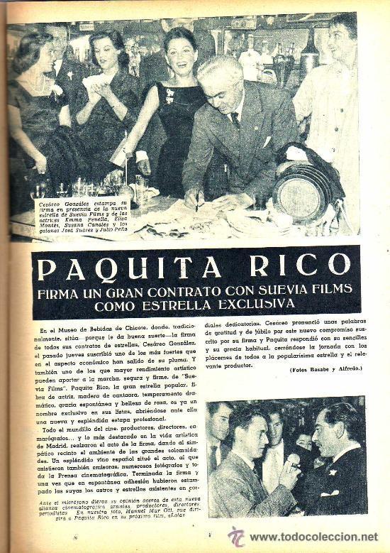 Cine: RADIOCINEMA Nº 327 - 27 OCTUBRE 1956 - PORTADA JORGE RIVIERE - CONTRAPORTADA GIA SCALA - Foto 5 - 38401658