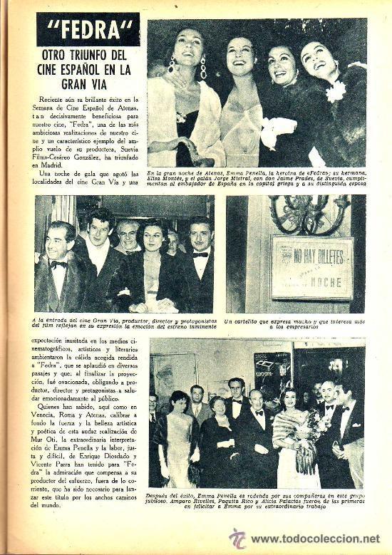 Cine: RADIOCINEMA Nº 332 - 1 DICIEMBRE 1956 - PORTADA PAQUITA RICO - CONTRAPORTADA JACK PALANCE - Foto 4 - 38401671