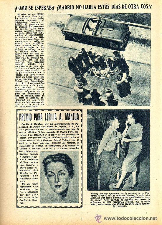 Cine: RADIOCINEMA Nº 350 -6 ABRIL 1957 - PORTADA LINDA DARNELL - CONTRAPORTADA NATALIE WOOD - Foto 5 - 38401682