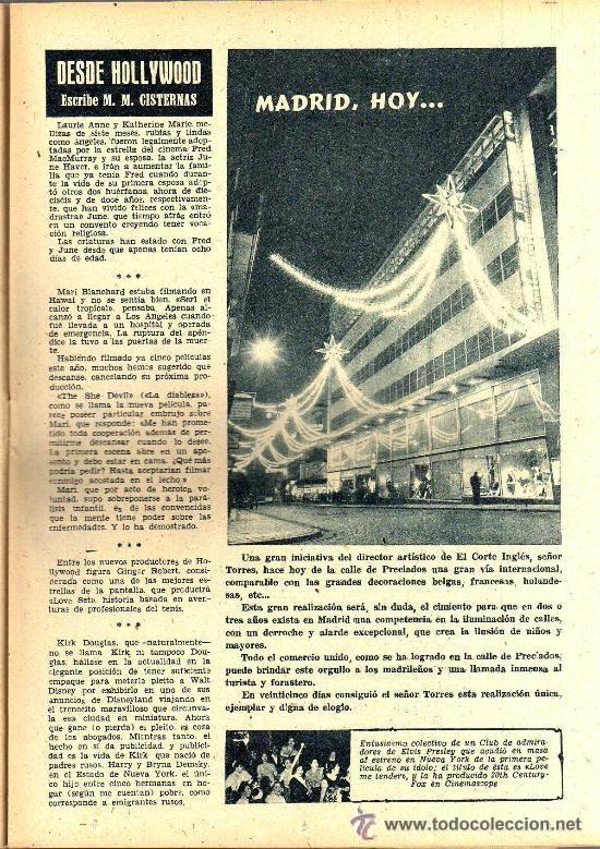 Cine: RADIOCINEMA Nº 334 - 15 DICIEMBRE 1956 - PORTADA LES NAJARRO - CONTRAPORTADA AUDREY HEPBURN - Foto 4 - 38401710