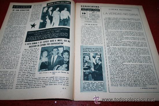 Cine: RADIOCINEMA Nº 379 - 19 OCTUBRE 1957 - PORTADA ELLEN DREW - CONTRAPORTADA ROCK HUDSON - Foto 7 - 38401759