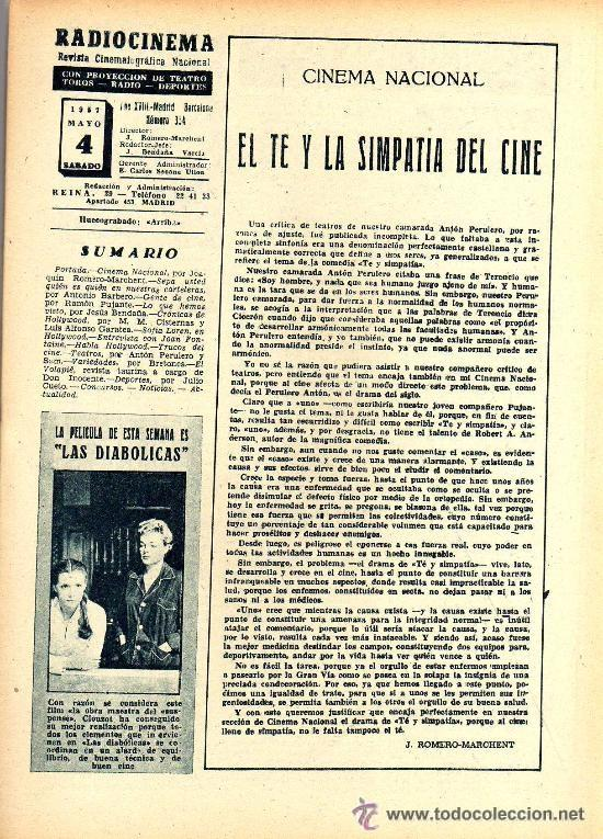 Cine: RADIOCINEMA Nº 354 -4 MAYO 1957 - PORTADA JACK MAHONEY - CONTRAPORTADA GEORGE NADER - Foto 3 - 38408910