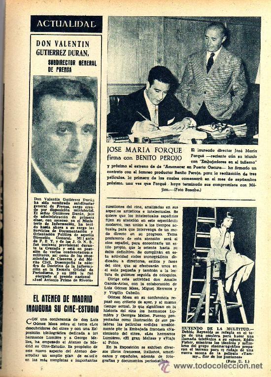 Cine: RADIOCINEMA Nº 354 -4 MAYO 1957 - PORTADA JACK MAHONEY - CONTRAPORTADA GEORGE NADER - Foto 4 - 38408910