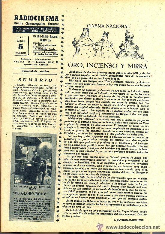 Cine: RADIOCINEMA Nº 337 - 5 ENERO 1957 - PORTADA CARMEN MORELL Y PEPE BLANCO - CONTRAPORTADA NATALIE WOOD - Foto 3 - 38408984