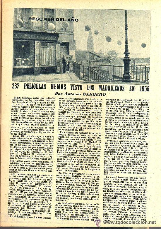 Cine: RADIOCINEMA Nº 337 - 5 ENERO 1957 - PORTADA CARMEN MORELL Y PEPE BLANCO - CONTRAPORTADA NATALIE WOOD - Foto 4 - 38408984