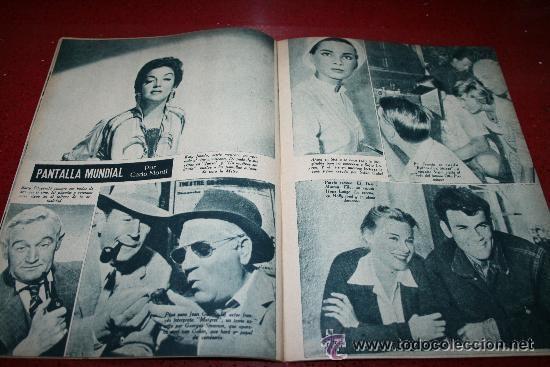 Cine: RADIOCINEMA Nº 376 - 5 SEPTIEMBRE 1957 - PORTADA MICHELLE MORGAN - CONTRAPORTADA BARBARA LANG - Foto 3 - 38409016