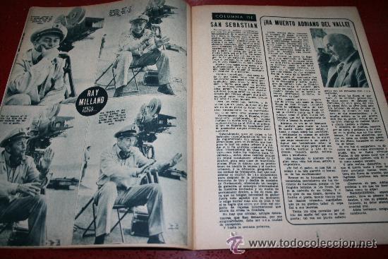 Cine: RADIOCINEMA Nº 376 - 5 SEPTIEMBRE 1957 - PORTADA MICHELLE MORGAN - CONTRAPORTADA BARBARA LANG - Foto 4 - 38409016