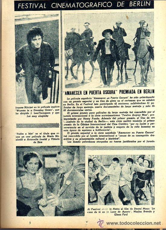 Cine: RADIOCINEMA Nº 363 - 6 JULIO 1957 - PORTADA ¿VIVE JAMES DEAN? - CONTRAPORTADA IVONNE DEFOURNEAUX - Foto 5 - 38412123