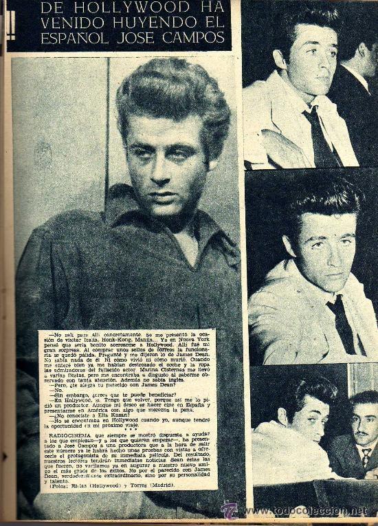 Cine: RADIOCINEMA Nº 363 - 6 JULIO 1957 - PORTADA ¿VIVE JAMES DEAN? - CONTRAPORTADA IVONNE DEFOURNEAUX - Foto 6 - 38412123