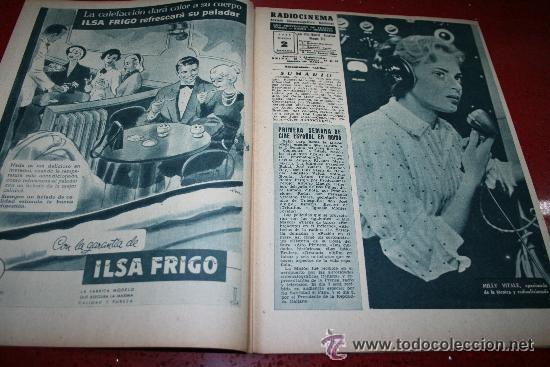 Cine: RADIOCINEMA Nº 345 - 2 MARZO 1957 - PORTADA C.H. WESSELY - CONTRAPORTADA TONY CURTIS - Foto 6 - 38412126