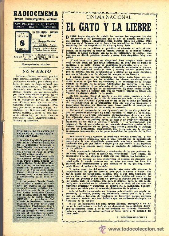 Cine: RADIOCINEMA Nº 359 -8 JUNIO 1957 - PORTADA RHONDA FLEMING - CONTRAPORTADA ROCK HUDSON - Foto 3 - 38412132