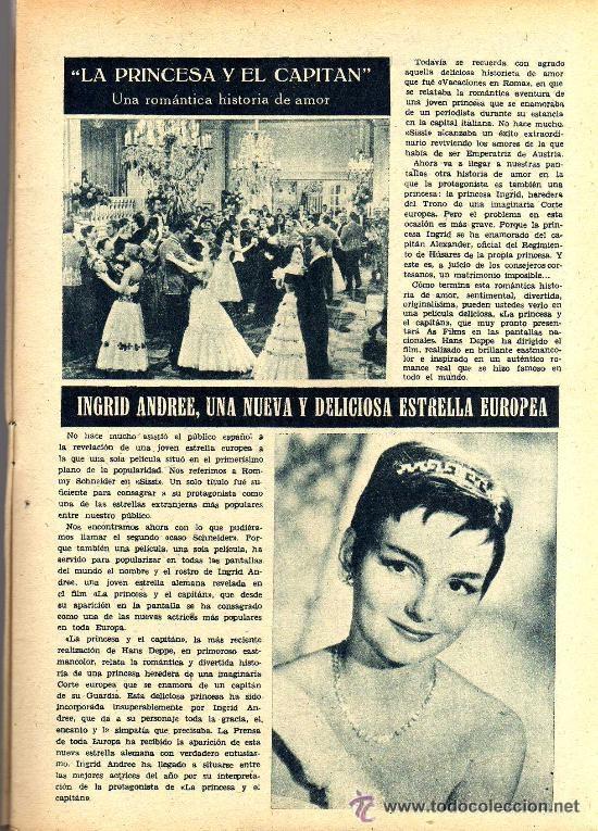 Cine: RADIOCINEMA Nº 359 -8 JUNIO 1957 - PORTADA RHONDA FLEMING - CONTRAPORTADA ROCK HUDSON - Foto 4 - 38412132