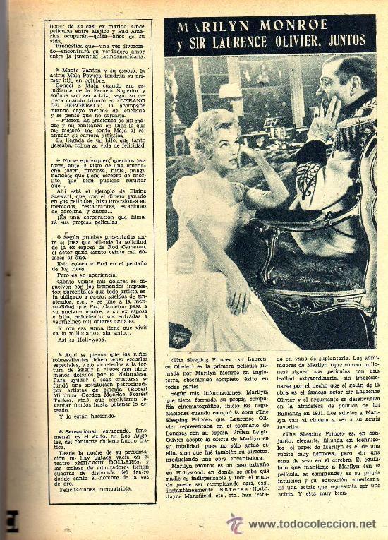 Cine: RADIOCINEMA Nº 359 -8 JUNIO 1957 - PORTADA RHONDA FLEMING - CONTRAPORTADA ROCK HUDSON - Foto 7 - 38412132