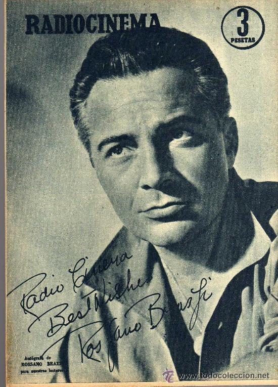 Cine: RADIOCINEMA Nº 346 -9 MARZO 1957 - PORTADA ROSSANA PODESTA - CONTRAPORTADA ROSSANO BRAZZI - Foto 2 - 38412137