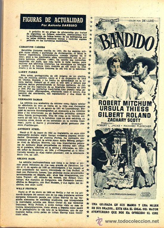 Cine: RADIOCINEMA Nº 346 -9 MARZO 1957 - PORTADA ROSSANA PODESTA - CONTRAPORTADA ROSSANO BRAZZI - Foto 4 - 38412137