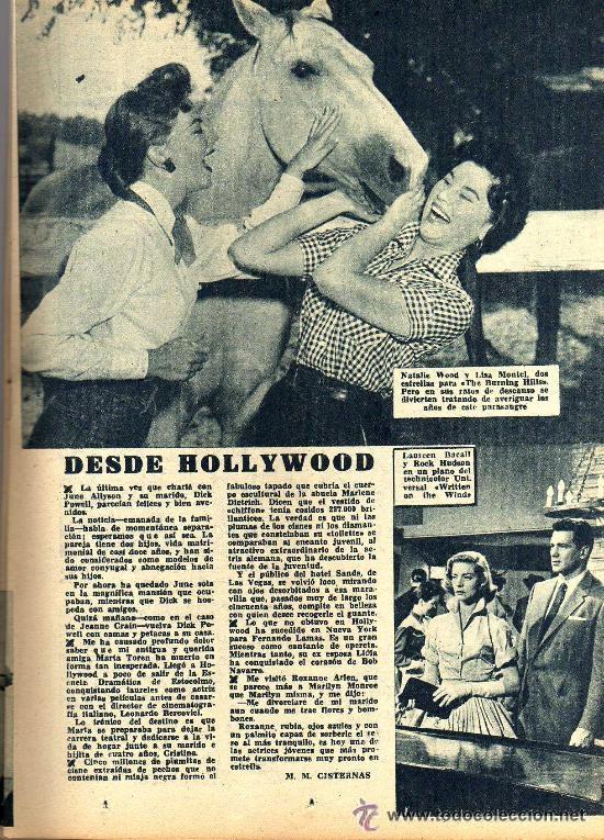 Cine: RADIOCINEMA Nº 346 -9 MARZO 1957 - PORTADA ROSSANA PODESTA - CONTRAPORTADA ROSSANO BRAZZI - Foto 5 - 38412137