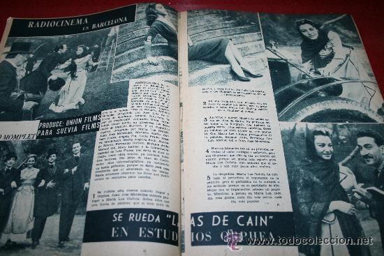 Cine: RADIOCINEMA Nº 378 - 19 OCTUBRE 1957 - PORTADA DOROTY MORRIS - CONTRAPORTADA PATRICIA OWENS - Foto 4 - 38412140