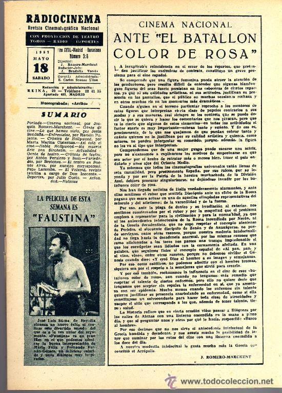 Cine: RADIOCINEMA Nº 356 -18 MAYO 1957 - PORTADA JULIE LONDON - CONTRAPORTADA RAY MILLAND - Foto 3 - 38412143