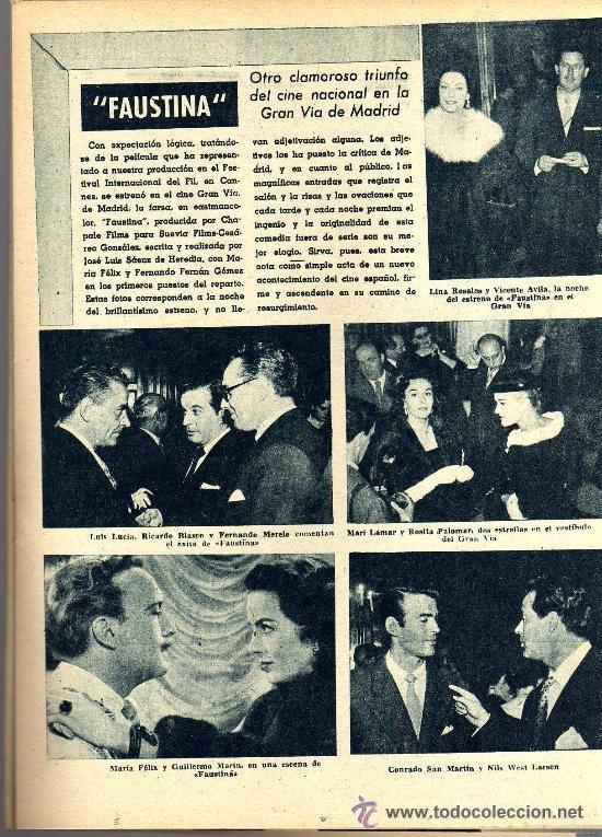 Cine: RADIOCINEMA Nº 356 -18 MAYO 1957 - PORTADA JULIE LONDON - CONTRAPORTADA RAY MILLAND - Foto 4 - 38412143