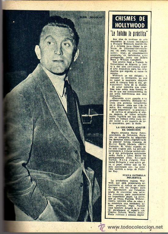 Cine: RADIOCINEMA Nº 356 -18 MAYO 1957 - PORTADA JULIE LONDON - CONTRAPORTADA RAY MILLAND - Foto 7 - 38412143