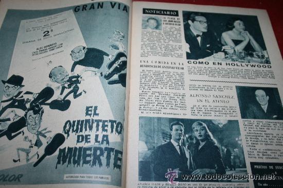 Cine: RADIOCINEMA Nº 342 - 9 FEBRERO 1957 - PORTADA ANNE SHERIDAN - CONTRAPORTADA PIER ANGELI - Foto 5 - 38412144