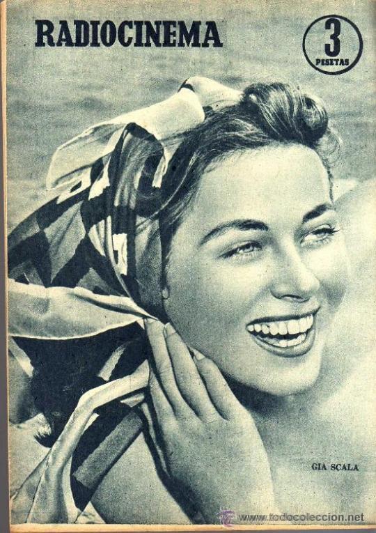Cine: RADIOCINEMA Nº 347 - 16 MARZO 1957 - PORTADA MARIANNE COOK - CONTRAPORTADA GIA SCALA - Foto 2 - 38412147