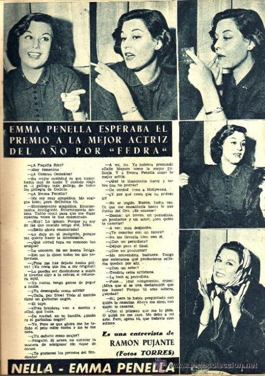 Cine: RADIOCINEMA Nº 347 - 16 MARZO 1957 - PORTADA MARIANNE COOK - CONTRAPORTADA GIA SCALA - Foto 5 - 38412147