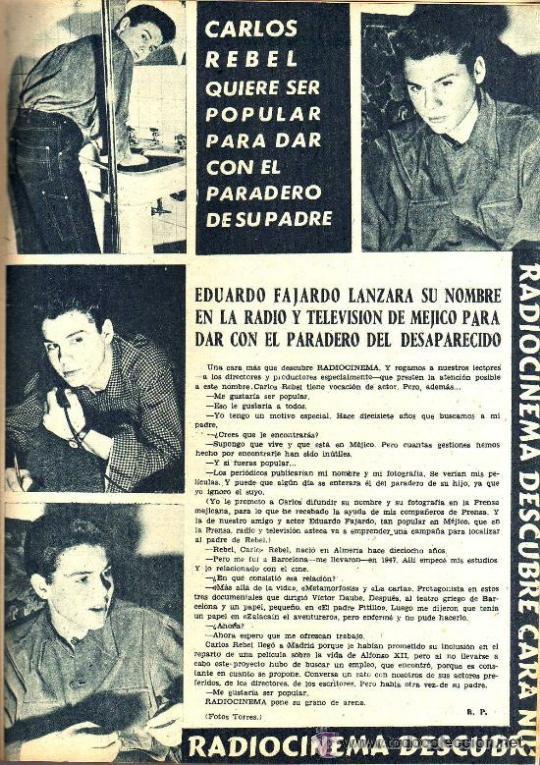 Cine: RADIOCINEMA Nº 347 - 16 MARZO 1957 - PORTADA MARIANNE COOK - CONTRAPORTADA GIA SCALA - Foto 7 - 38412147