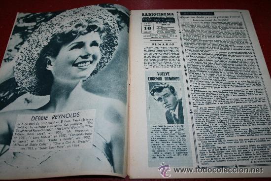 Cine: RADIOCINEMA Nº 368 - 10 AGOSTO 1957 - PORTADA JOSÉ CAMPOS - CONTRAPORTADA EVA GABOR - Foto 6 - 38412149