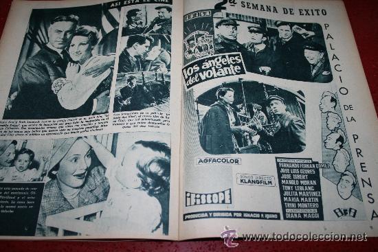 Cine: RADIOCINEMA Nº 372 - 7 SEPTIEMBRE 1957 - PORTADA MARIA MARTIN Y TRINI MONTERO. CONTRAP. ROCK HUDSON - Foto 2 - 38412150