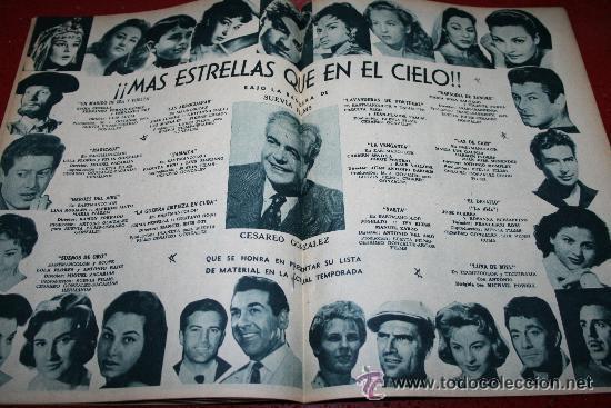 Cine: RADIOCINEMA Nº 372 - 7 SEPTIEMBRE 1957 - PORTADA MARIA MARTIN Y TRINI MONTERO. CONTRAP. ROCK HUDSON - Foto 3 - 38412150