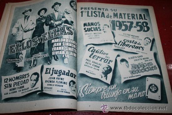Cine: RADIOCINEMA Nº 372 - 7 SEPTIEMBRE 1957 - PORTADA MARIA MARTIN Y TRINI MONTERO. CONTRAP. ROCK HUDSON - Foto 4 - 38412150