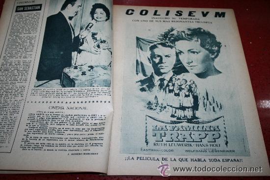 Cine: RADIOCINEMA Nº 372 - 7 SEPTIEMBRE 1957 - PORTADA MARIA MARTIN Y TRINI MONTERO. CONTRAP. ROCK HUDSON - Foto 5 - 38412150