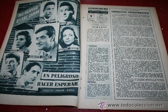 Cine: RADIOCINEMA Nº 372 - 7 SEPTIEMBRE 1957 - PORTADA MARIA MARTIN Y TRINI MONTERO. CONTRAP. ROCK HUDSON - Foto 6 - 38412150