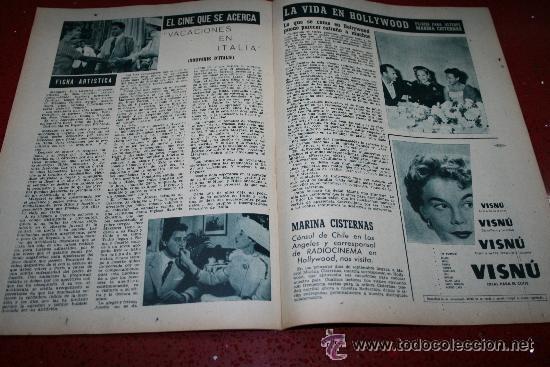 Cine: RADIOCINEMA Nº 370 - 24 AGOSTO 1957 - PORTADA ARTURO FERNANDEZ/MONTSERRAT SALVADOR - Foto 3 - 38412151