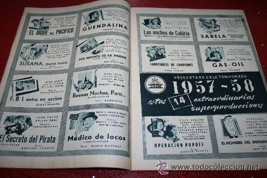 Cine: RADIOCINEMA Nº 370 - 24 AGOSTO 1957 - PORTADA ARTURO FERNANDEZ/MONTSERRAT SALVADOR - Foto 6 - 38412151