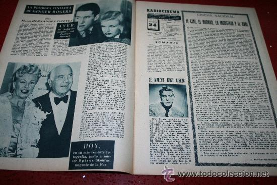 Cine: RADIOCINEMA Nº 370 - 24 AGOSTO 1957 - PORTADA ARTURO FERNANDEZ/MONTSERRAT SALVADOR - Foto 8 - 38412151