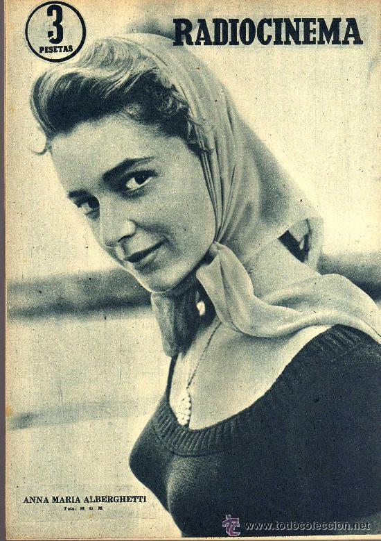 Cine: RADIOCINEMA Nº 335 - 22 DICIEMBRE 1956 - PORTADA CARMEN SEVILLA - CONTRAPORTADA ANNA Mº ALBERGHETTI - Foto 2 - 38412154
