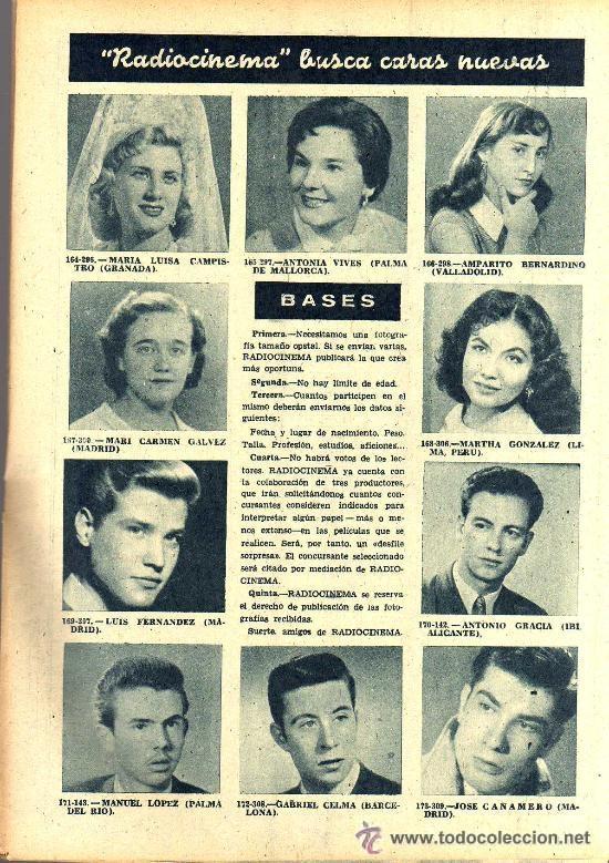 Cine: RADIOCINEMA Nº 335 - 22 DICIEMBRE 1956 - PORTADA CARMEN SEVILLA - CONTRAPORTADA ANNA Mº ALBERGHETTI - Foto 6 - 38412154