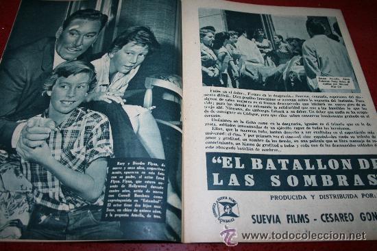 Cine: RADIOCINEMA Nº 343 - 16 FEBRERO 1957 - PORTADA MAUREEN O'HARA - CONTRAPORTADA PIER ANGELI - Foto 3 - 152847309