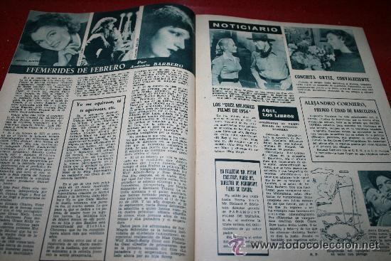 Cine: RADIOCINEMA Nº 343 - 16 FEBRERO 1957 - PORTADA MAUREEN O'HARA - CONTRAPORTADA PIER ANGELI - Foto 4 - 152847309