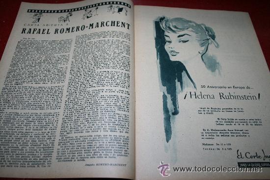 Cine: RADIOCINEMA Nº 343 - 16 FEBRERO 1957 - PORTADA MAUREEN O'HARA - CONTRAPORTADA PIER ANGELI - Foto 5 - 152847309