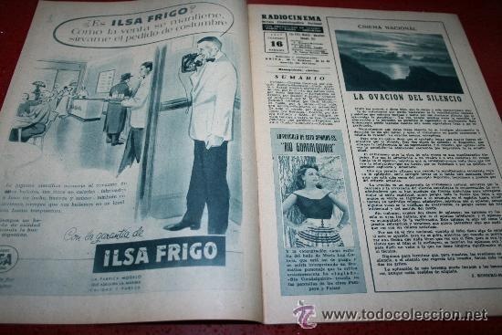 Cine: RADIOCINEMA Nº 343 - 16 FEBRERO 1957 - PORTADA MAUREEN O'HARA - CONTRAPORTADA PIER ANGELI - Foto 6 - 152847309