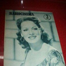 Cine: RADIOCINEMA Nº 343 - 16 FEBRERO 1957 - PORTADA MAUREEN O'HARA - CONTRAPORTADA PIER ANGELI. Lote 152847309
