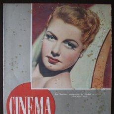 Cine: REVISTA CINEMA - AÑO I Nº 3 - MAYO 1946 - PORTADA ANN SHERIDAN. Lote 38416895